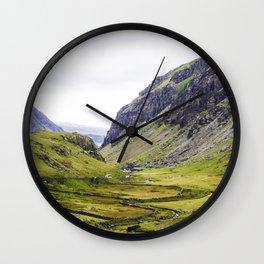 Green Irish Valley Wall Clock