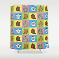 platypus Shower Curtains featuring Aussie Animals by Unihorse