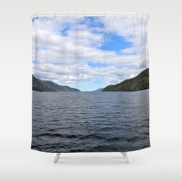 The Great Loch Ness Shower Curtain