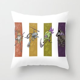 Dreamtime Characters Throw Pillow