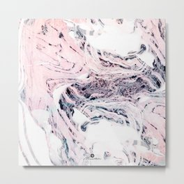 Abstract marbled saturated Metal Print