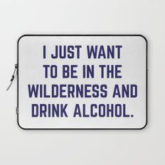 Wilderness & Booze Laptop Sleeve