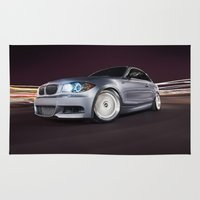 bmw Area & Throw Rugs featuring BMW 135i by Jacob Brcic