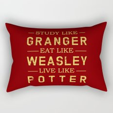 STUDY LIKE GRANGER, EAT LIKE WEASLEY, LIVE LIKE POTTER Rectangular Pillow