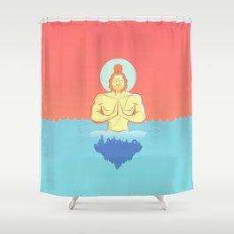 Hanuman Ji : Early morning Meditation  Shower Curtain