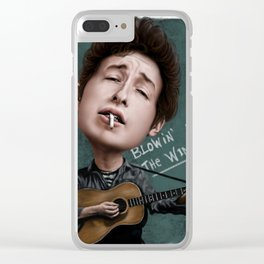 Young Bob Dylan Clear iPhone Case