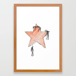 The Communism kills Framed Art Print
