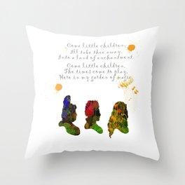 Come Little Children Throw Pillow