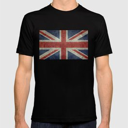 England's Union Jack, Dark Vintage 3:5 scale T-shirt