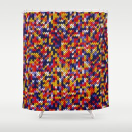 Knitted multicolor pattern 1 Shower Curtain