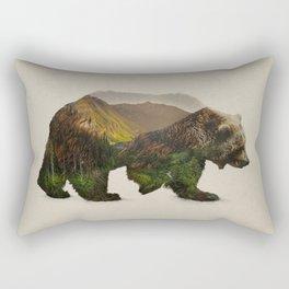 North American Brown Bear Rectangular Pillow