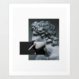 A classic cigarette. Art Print
