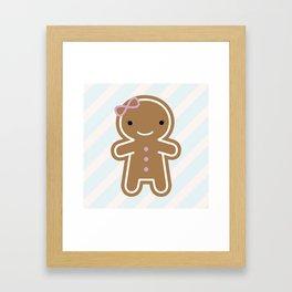 Cookie Cute Gingerbread Girl Framed Art Print