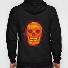 Orange Calavera Skull  Hoody