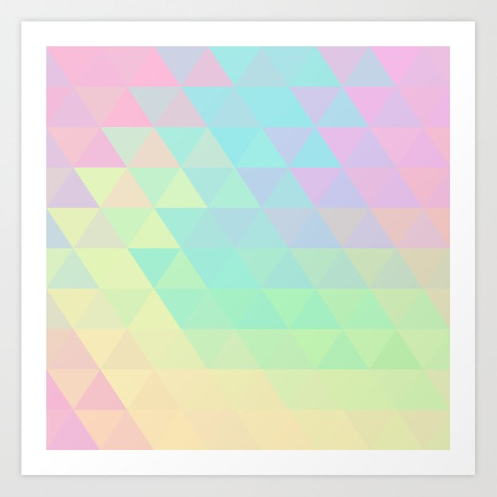 Holographic Geometric Vector Background 80s And 90s Fashion Design Art Print By Rimma Society6