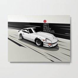 Datsun 240ZG G-Nose (White) Metal Print
