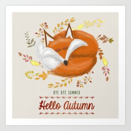 Hello Autumn Art Print