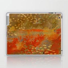 Ginkgo Leaves on Rust Background Laptop & iPad Skin