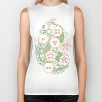 dbz Biker Tanks featuring DBZ- Shenron Linear Color by Li Boggs