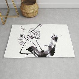 Plum blossom sumie ink Rug