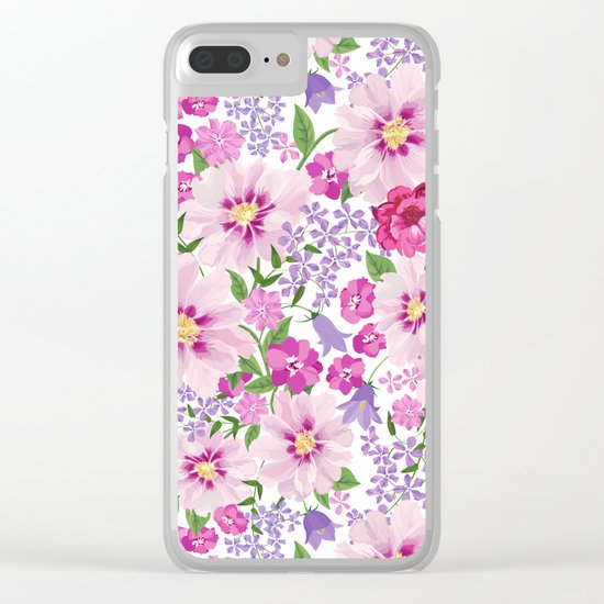 FLOWERS VI Clear iPhone Case
