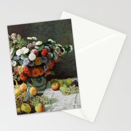 Claude Monet - Still Life with Flowers and Fruit Stationery Cards