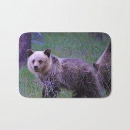 Grizzly bear cub in Jasper National Park | Alberta Bath Mat