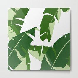 Watercolor tropical leaf XIV Metal Print