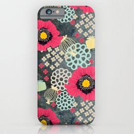 Poppies & Pods  iPhone Case