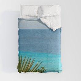 Caribbean Ocean Agave Oasis #1 #wall #decor #art #society6 Comforters