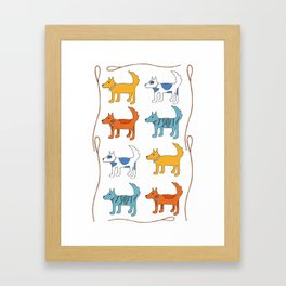 For the love of dogs Framed Art Print