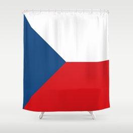 Flag of Czech Republic Shower Curtain
