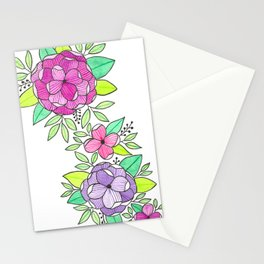 Peonies  Watercolor Stationery Cards