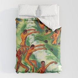 Men Swimming Cote d-Azur, France Circa 1920 landscape painting Comforters
