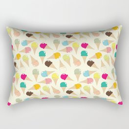 Ice Cream Pattern Rectangular Pillow