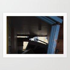 Blue Frame Motel, After Sandy Art Print
