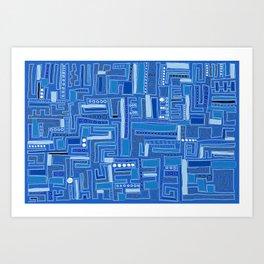 Bloo-bloo-bee-doo! Art Print