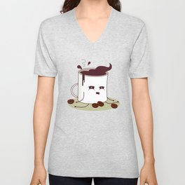Coffee Mug Addicted To Coffee pattern Unisex V-Neck