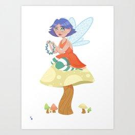 Fairy Flower Chains Art Print
