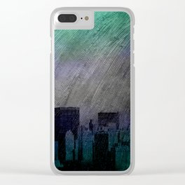 cityscape and colored sky -1- Clear iPhone Case