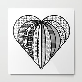 heart made from pieces . Artlove Metal Print