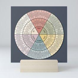 Feelings Wheel - Muted Mini Art Print