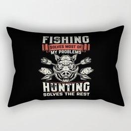 Hunter Hunting fish Rectangular Pillow