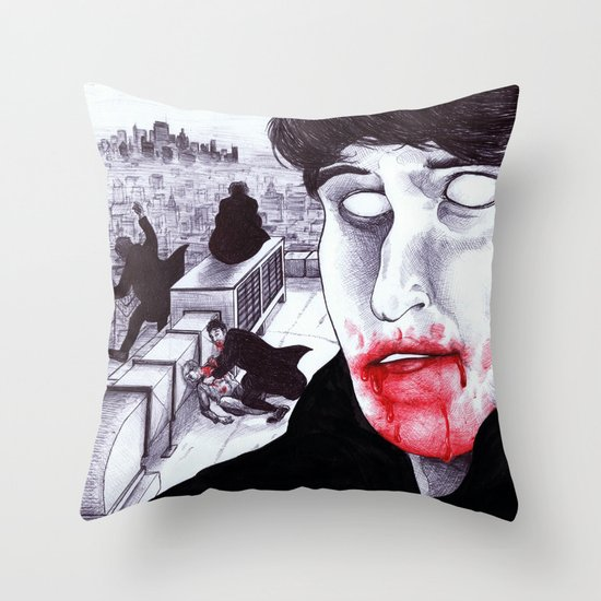 """Modern Vampires of the City"" by Cap Blackard Throw Pillow"