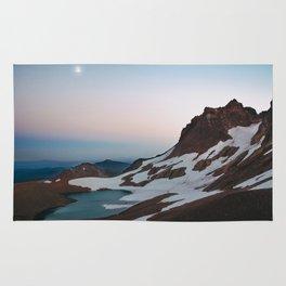 Alpine Lake Moonrise Rug