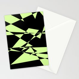 Lime And Black Puzzle Art Stationery Cards