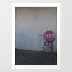 Stop. Breathe. And let it go ... Art Print