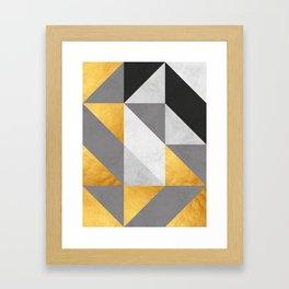Gold Composition II Framed Art Print