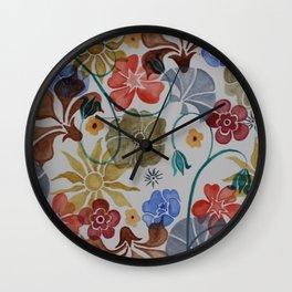 Deco Floral Wall Clock