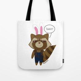 Rocket Raccoon Rabbit Tote Bag